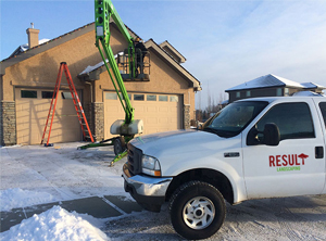 Rooftop snow removal in calgary area