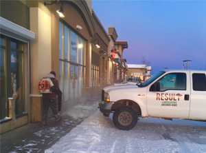 Commercial, local business snow removal in calgary area