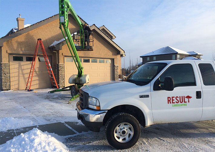 Calgary Christmas Light Installation Service Result Landscaping - Christmas Lights Hanging Service